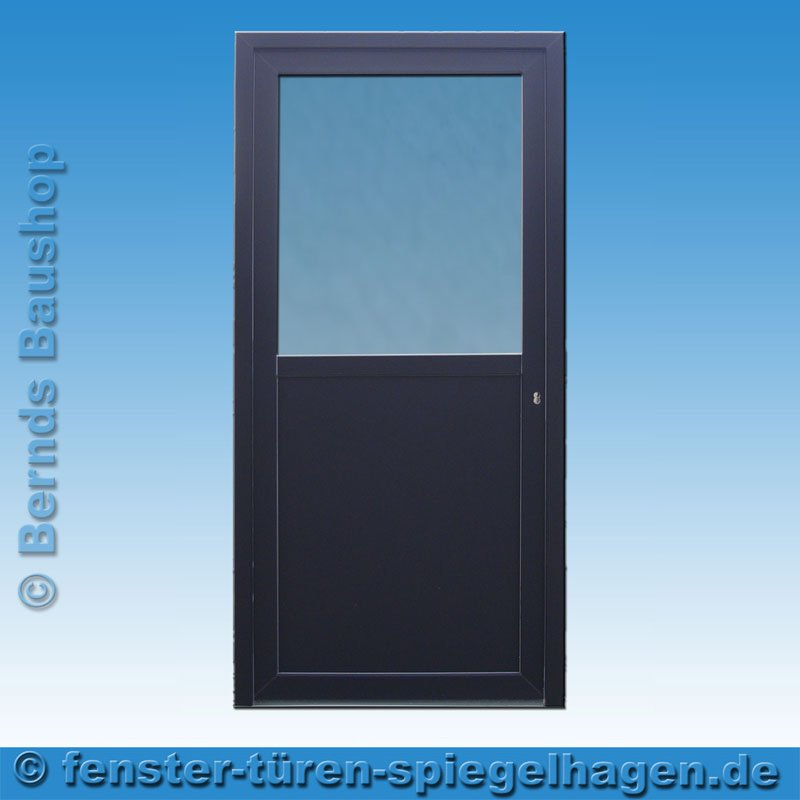 haust r nebeneingangst r anthrazit ak 12a klarglas m ller gmbh spiegelhagen. Black Bedroom Furniture Sets. Home Design Ideas
